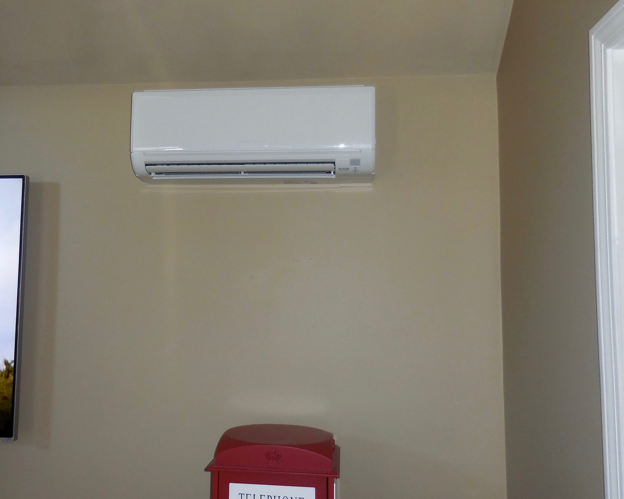 Indoor example of wall mounted ductless AC.