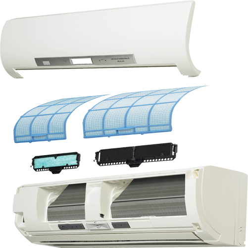 how to clean the filters of a ductless mini-split heat pump air conditioner