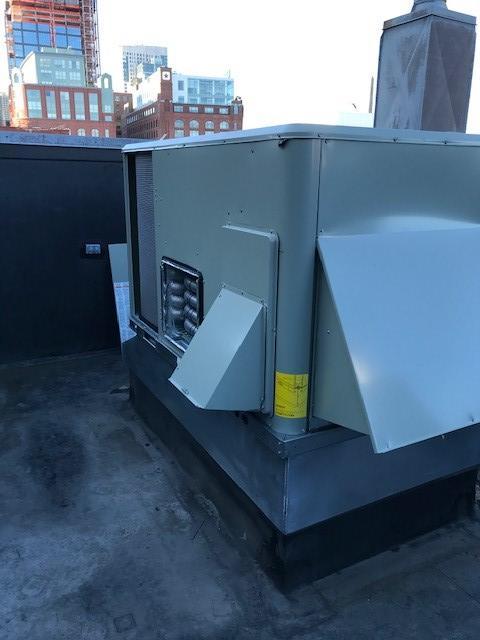 American Standard heating unit installation in Boston, MA.
