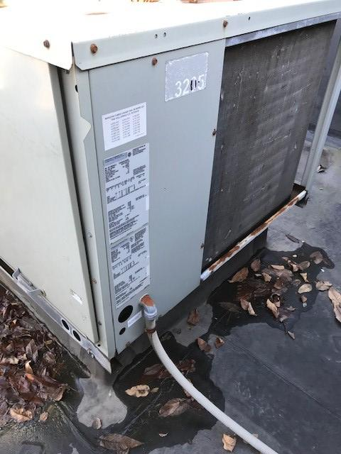 Outdoor rooftop unit installed in Boston, MA, for heating.
