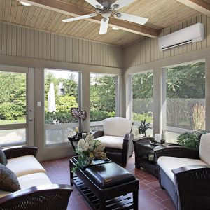Turning a Sunroom into an All-Season Room with a Ductless Mini-Split
