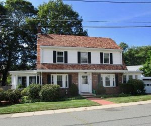 Medford Brick Colonial Style Home Installs Mitsubishi Ductless Heating and Cooling