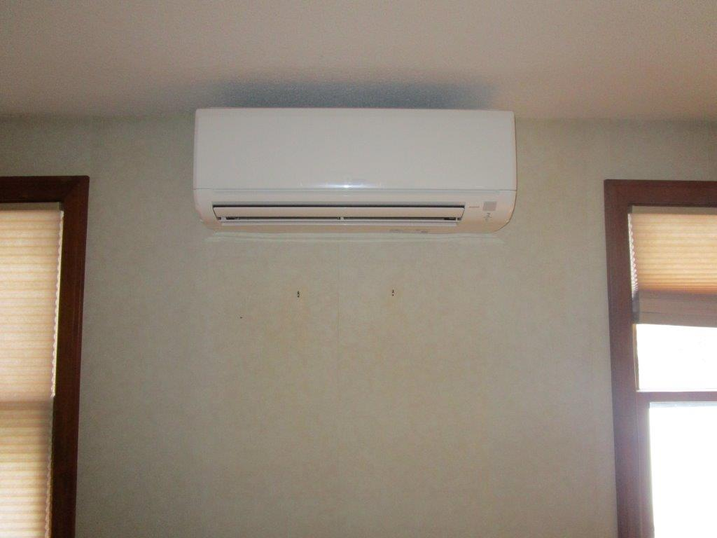 Example of ductless installation in the office.