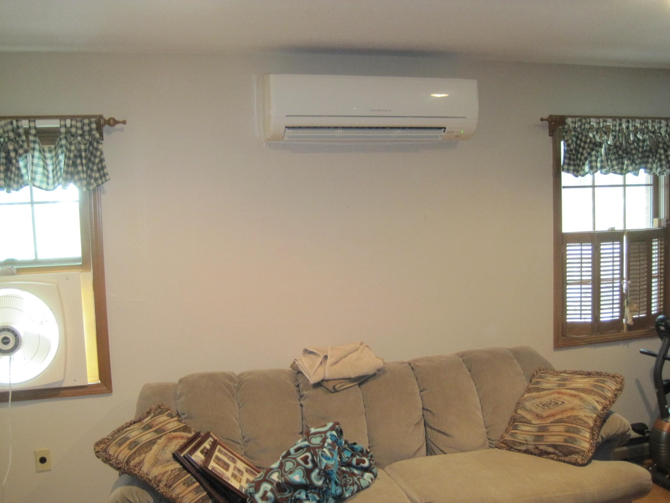 Example of indoor ductless AC in Salem, MA, home.