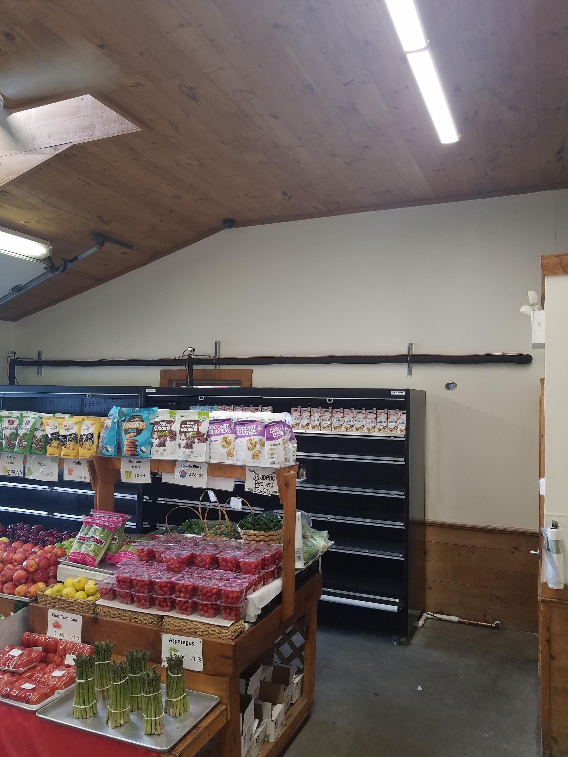 Example of how the refrigeration case and new piping looks inside the store.