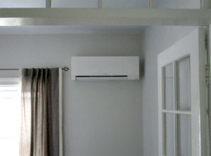 Example of a ductless AC installed on the wall of a Winthrop home.
