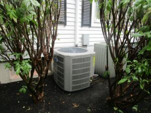 New outdoor condenser unit for an American Standard air conditioner system.