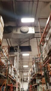 New evaporator coils for the cooling system installed in Seacrest Foods' warehouse by N.E.T.R., Inc.,