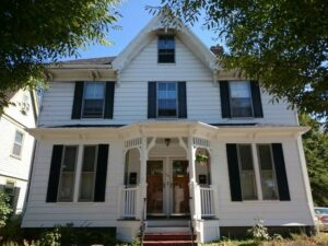Two-family home in Boston, MA, gets supplemental heating and cooling with Mitsubishi ductless.
