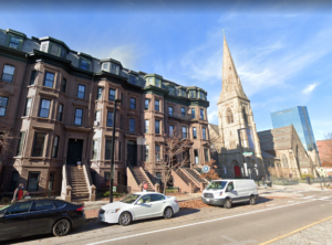 A street view of the brownstone condo in Boston's South End that N.E.T.R., Inc., helped upgrade with a Mitsubishi ductless system.